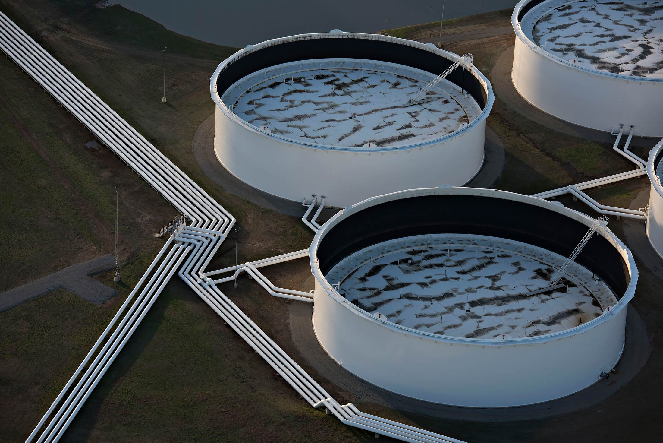 Aerial Views Of Largest U.S. Oil Hub As Stockpile Growth Slows