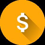 dollar sign money icon orange